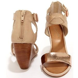 Seychelles 'All the Way' Leather Wedge Sandals